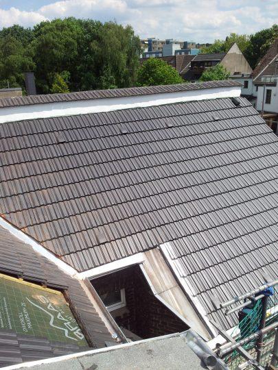 Eingedeckte Dachfläche