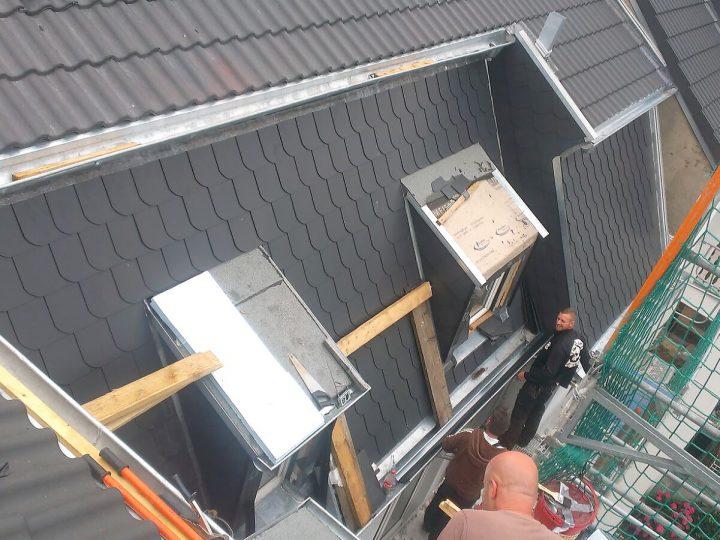 Dachgaube Dämmung oben