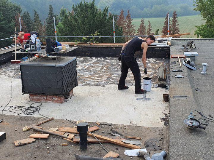Flachdach komplett zurückgebaut
