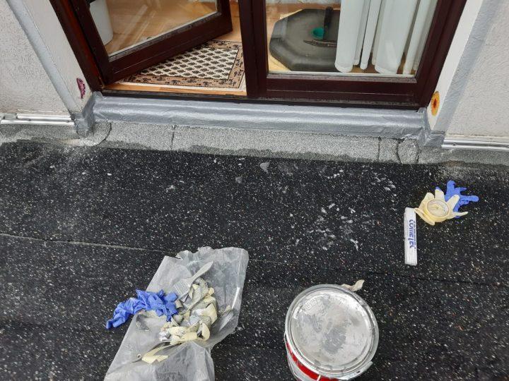 Bauten-Schutzmatten für die spätere Belegung ausgelegt