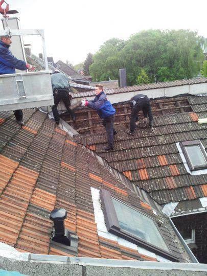Steildach vor der Sanierung durch die Kessel GmbH